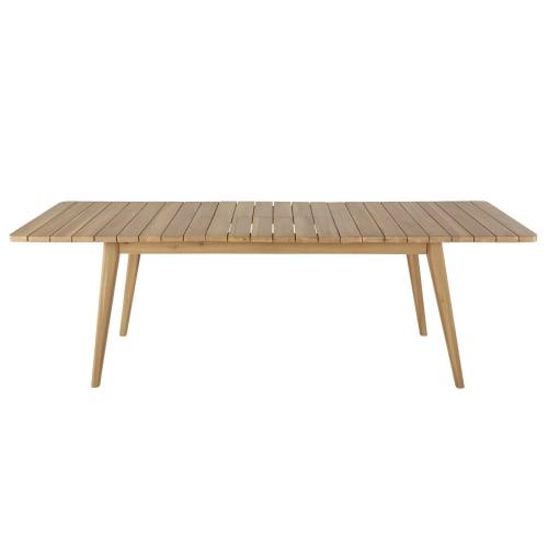Table de jardin extensible en acacia massif 8/10 personnes L180/240
