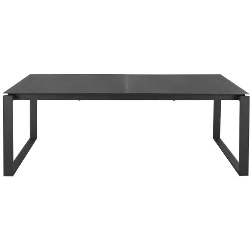 Table de jardin extensible en aluminium gris anthracite 8/10 personnes  L206/266