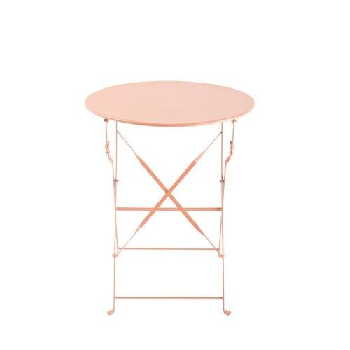Table de jardin pliante en métal rose D58