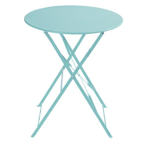 Table de jardin pliante en métal turquoise D58