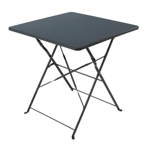 Table de jardin professionnelle en métal gris L70