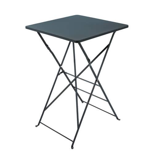 Table haute de jardin professionnelle en métal gris L70