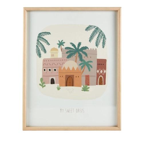 Tableau Imprime Oasis Multicolore 40x50 Siwa Maisons Du Monde