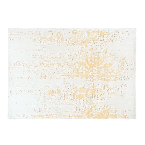 Tapis Blanc Et Beige 140x200 Kamya Maisons Du Monde