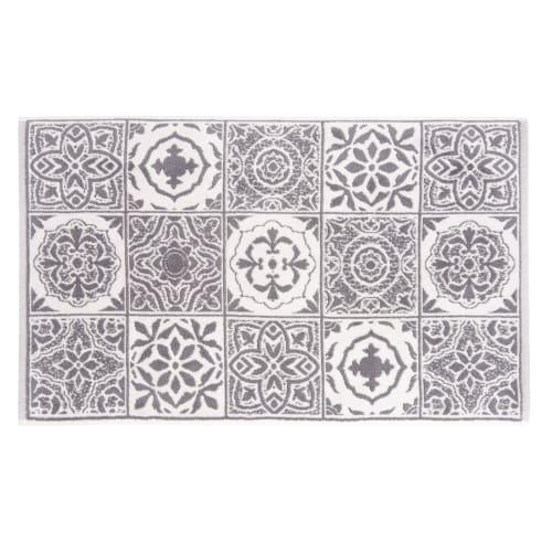 Tapis De Bain En Coton Motifs Carreaux De Ciment 50x80 Maisons Du Monde
