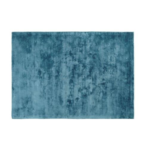 Tapis Tufte Bleu Canard 140x200 Maisons Du Monde