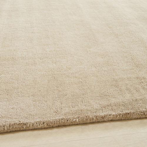 Tappeto beige in lana a pelo corto 250 x 350 cm