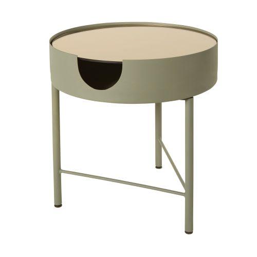 Tavolino da salotto in vetro fumé e metallo grigio antracite