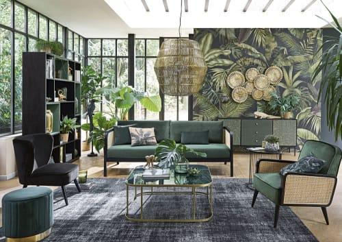 Tavolino Da Salotto In Vetro Temperato Verde Manaos Maisons Du Monde
