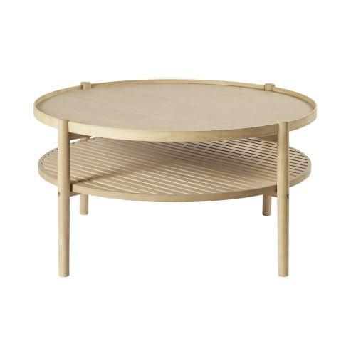 Tavolino da salotto rotondo doppio piano