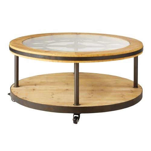 Tavolino da salotto rotondo orologio