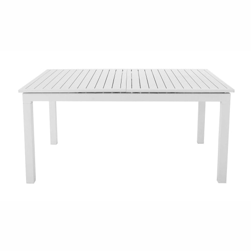 Maison Du Monde Tavoli Da Esterno.Tavolo Allungabile Bianco Da Giardino In Alluminio L Da 160 A 210