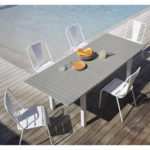 Tavolo Allungabile Da Giardino 6 10 Persone In Composito E Alluminio 157 Cm Escale Maisons Du Monde