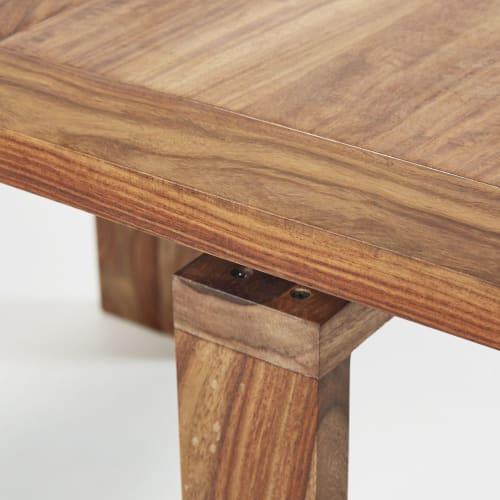 Tavolo consolle allungabile in legno massello di sheesham 2/6 persone, l  40/160 cm