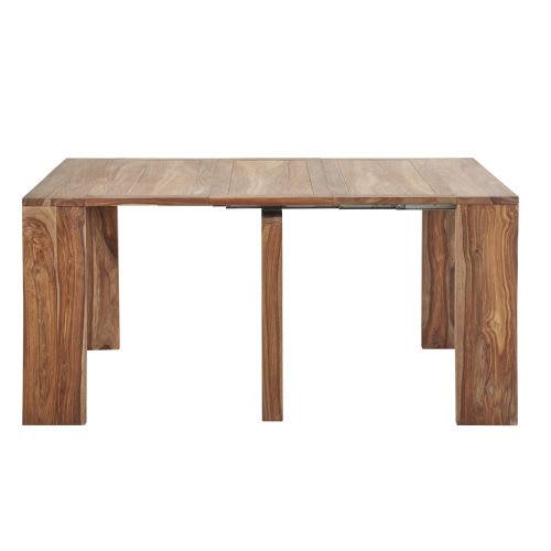 Tavolo Consolle Apribile A Libro.Tavolo Consolle Allungabile In Legno Massello Di Sheesham 2 6 Persone L 40 160 Cm