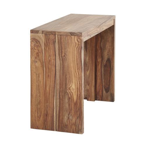 Tavolo A Consolle Apribile.Tavolo Consolle Allungabile In Legno Massello Di Sheesham 2 6 Persone L 40 160 Cm