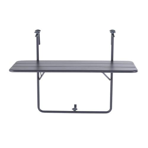 Tavoli Pieghevoli Per Balconi.Tavolo Da Balcone Pieghevole In Metallo Grigio 88 Cm Batignolles