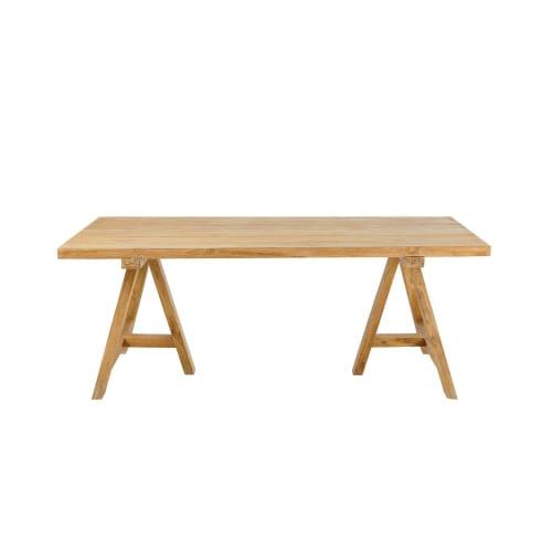 Offerte Tavoli Da Giardino In Teak.Tavolo Da Giardino 8 Persone In Teak Riciclato 200 Cm Tecka