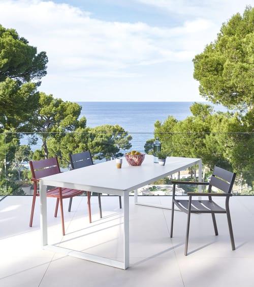 Tavolo Da Giardino Allungabile In Alluminio Bianco 8 10 Persone 206 266 Cm Guam Maisons Du Monde