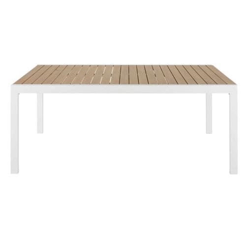 Tavolo Da Giardino Teak.Tavolo Da Giardino Allungabile In Alluminio Effetto Teak Da 8 A 12