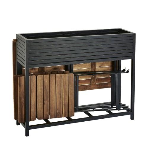 Tavoli Da Giardino Coop.Tavolo Da Giardino E 2 Sedie In Legno Massello Di Acacia E Metallo