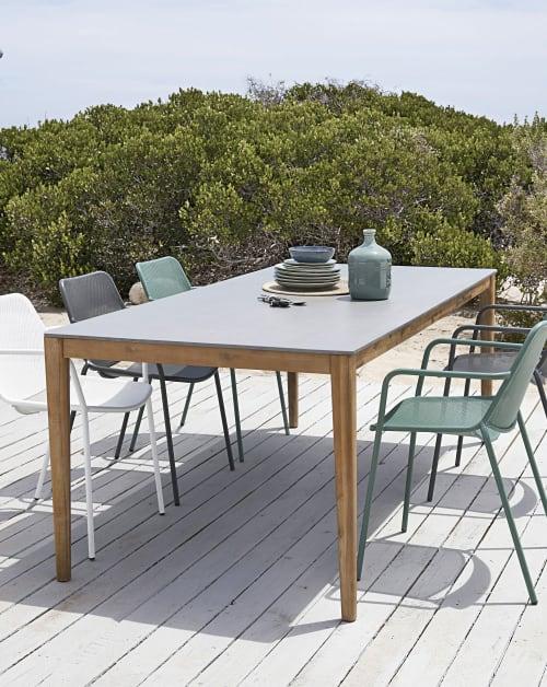 Tavoli Da Giardino In Cemento.Tavolo Da Giardino In Cemento 8 10 Persone 220 Cm Maisons Du Monde