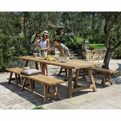 Tavolo da giardino in tek riciclato 12 14 persone 300 cm for Tavolo 12 persone
