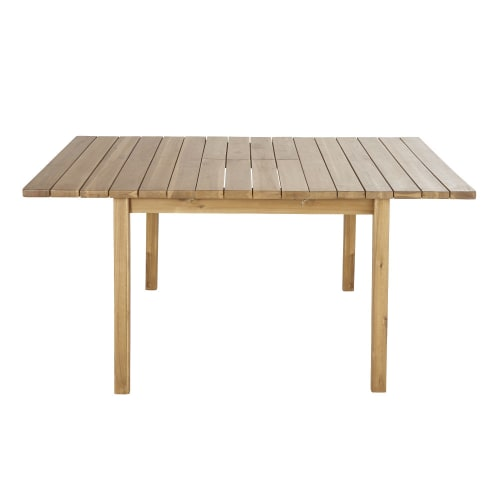 Tavolo Quadrato Allungabile Da Esterno.Tavolo Da Giardino Quadrato Allungabile In Acacia Massello 6 8