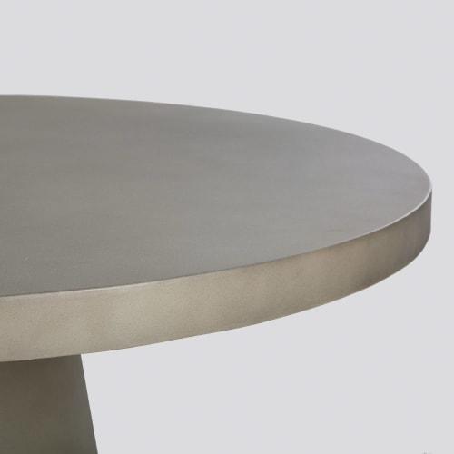 Tavolo Sedie Giardino Cemento.Tavolo Da Giardino Rotondo In Cemento 5 6 Persone 120 Cm Dolmen