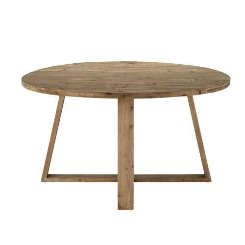 Tavolo da pranzo 6 persone in legno di pino riciclato, 140 ...