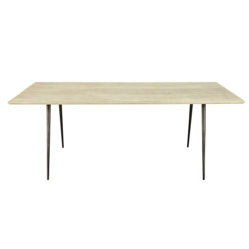 Tavolo Da Pranzo 8 10 Persone In Legno Di Mango E Metallo 207 Cm Pong Maisons Du Monde