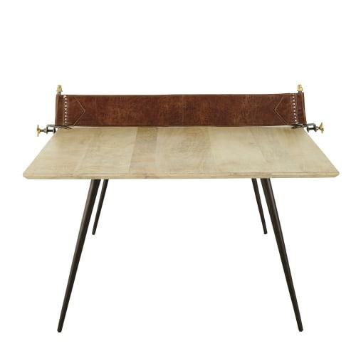 Tavolo da pranzo 8/10 persone in legno di mango e metallo ...