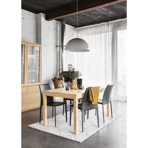 Tavolo Da Pranzo Allungabile 6 8 Persone In Rovere L 160 210 Cm Hambourg Maisons Du Monde