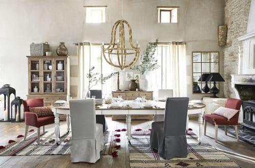 Tavolo Da Pranzo Allungabile A Rotelle 6 14 Persone 125 325 Cm Provence Maisons Du Monde