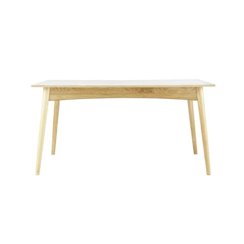 Tavolo Da Pranzo Allungabile Bianco 6 A 10 Persone 150 220 Cm Boop Maisons Du Monde