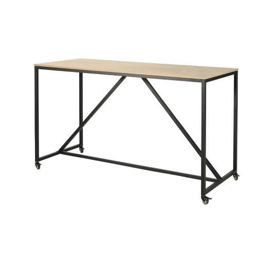 Tavolo da pranzo alto professionale a rotelle, 180 cm ...