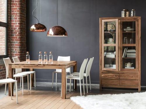 tavolo da pranzo quadrato in massello di legno di sheesham 140 cm