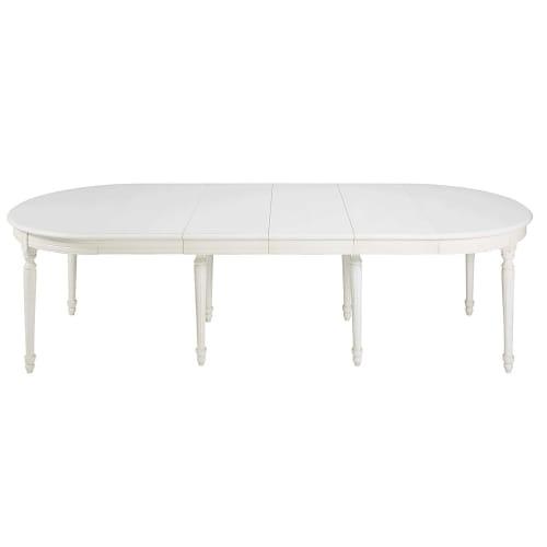 Tavolo Da Pranzo Rotondo Allungabile 4 A 14 Persone In Bianca Betulla L 120 280 Cm Louis Maisons Du Monde