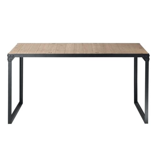 Tavoli Da Pranzo In Stile.Tavolo Da Pranzo Stile Industriale 6 8 Persone In Abete E Metallo