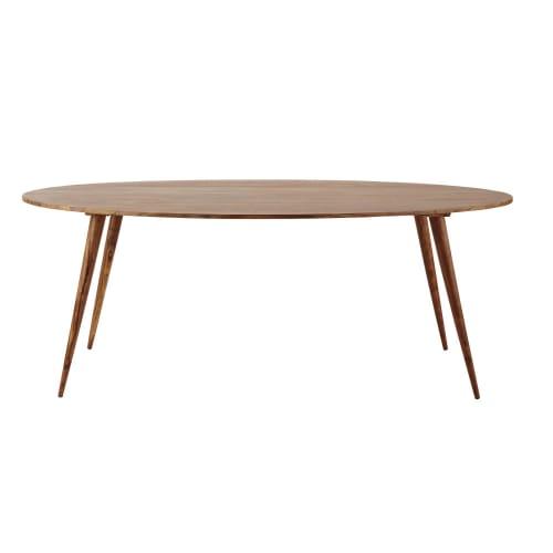 Tavolo ovale in massello di legno di sheesham per sala da pranzo 200 cm | Maisons du Monde