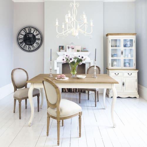 Tavolo per sala da pranzo color crema 160 cm
