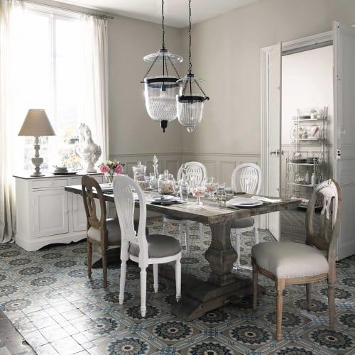 Tavolo per sala da pranzo in legno effetto anticato L 220 ...