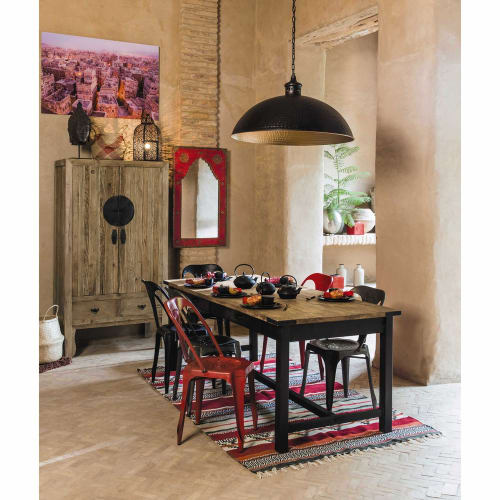 Tavolo Per Sala Da Pranzo In Mango E Metallo 200 Cm Alfred Maisons Du Monde