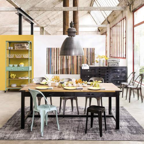 Maison Du Monde Tavoli Da Cucina.Tavolo Per Sala Da Pranzo In Mango E Metallo 200 Cm Alfred