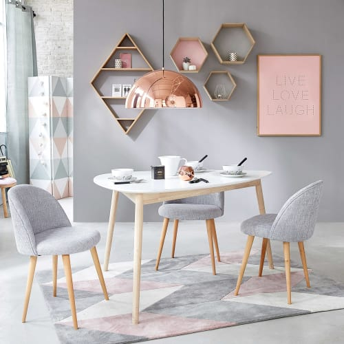 Tavolo Per Sala Da Pranzo Scandinavo Bianco 4 5 Persone 150 Cm Spring Maisons Du Monde