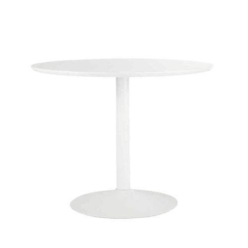 Tavolo rotondo bianco per sala da pranzo in legno e ...