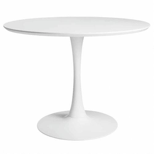 Tavolo Tondo 100 Cm.Tavolo Rotondo Bianco Per Sala Da Pranzo L 100 Cm Circle Maisons