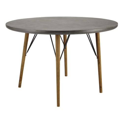 Tavolo Rotondo Per Sala Da Pranzo 4 Persone 120 Cm Cleveland Maisons Du Monde