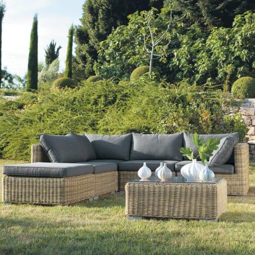 Maison Du Monde Divani Per Esterno.Tempered Glass And Wicker Garden Coffee Table W 76cm St Raphael