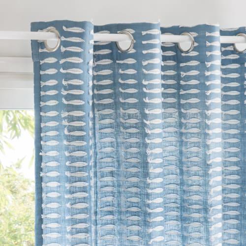 Tenda Con Occhielli In Cotone Bianco Al Pezzo 140x250 Cm Pez Maisons Du Monde